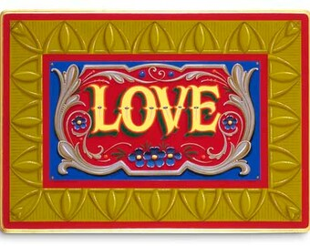 Love - Poster - Sign painting, fileteado