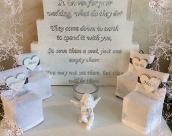 Missing loved one wedding plaque