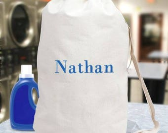 Personalized Embroidered Any Name Laundry Bag Custom Name Gift