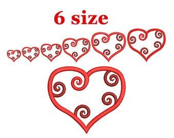 Heart Machine Embroidery design. Love design. Valentine Embroidery. Heart shapes. Valentines day. Love Machine Embroidery Design.