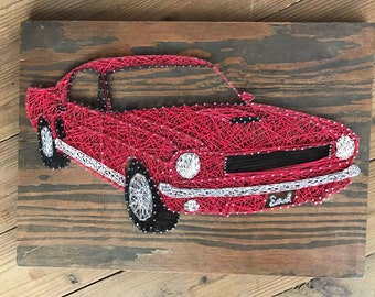 MADE TO ORDER 65 Ford Mustang string art