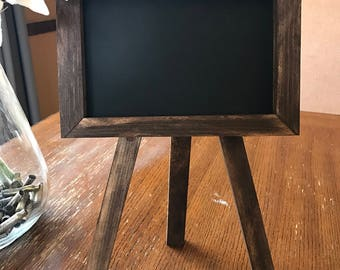 Chalkboard Easel/ Wood Chalkboard Easel/ Wedding Signs/ Chalkboard Easel Display/ Wood Easel/ Rustic Easel/Wedding Decor/ Framed Chalkboard