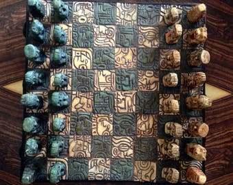 Vintage Aztec Chess Board
