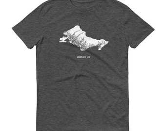 Honolulu Shirt, Honolulu HI, Honolulu TShirt, Honolulu Gift, Honolulu Tee, Honolulu Map, Hawaii Shirt, Hawii Map, Hawaiian Gifts, Hawaiian