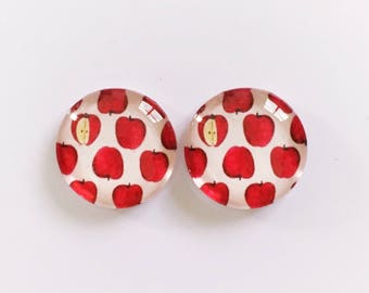 The 'Red Delicious' Glass Earring Studs