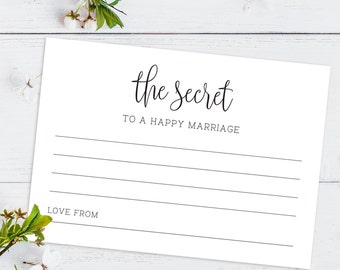 Printable Wedding Advice Card/ Marriage Advice/ Instant Download/ PDF/ Download/ Custom/ Elizabeth suite #049-05