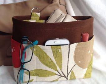 Handbag insert - Bag organiser - Handbag Caddy - Purse insert - Fruit Grove