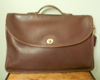 Coach Leather Chocolate Brown Briefcase