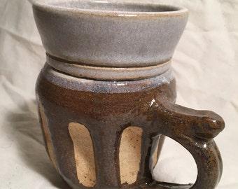 Honey textured mug