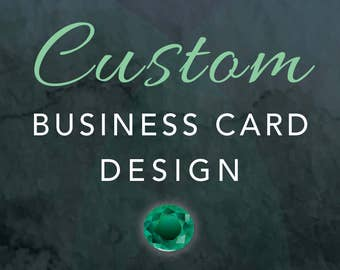 CUSTOM BUSINESS CARD Design - Brand New Custom Design Created Just For You! - One of a Kind Professional Design