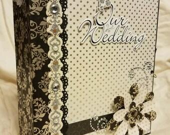 Wedding mini album, wedding scrapbook, wedding photo album, mini scrapbook album, mini scrapbook, bridal gift, wedding gift, memory album