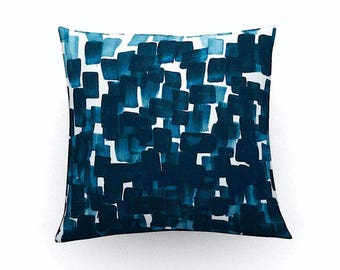 Decorative blue pillow, cushion cover,abstract art print,throw pillow,home accessories,pillow cover, blue pillow,blue cushion,home decor