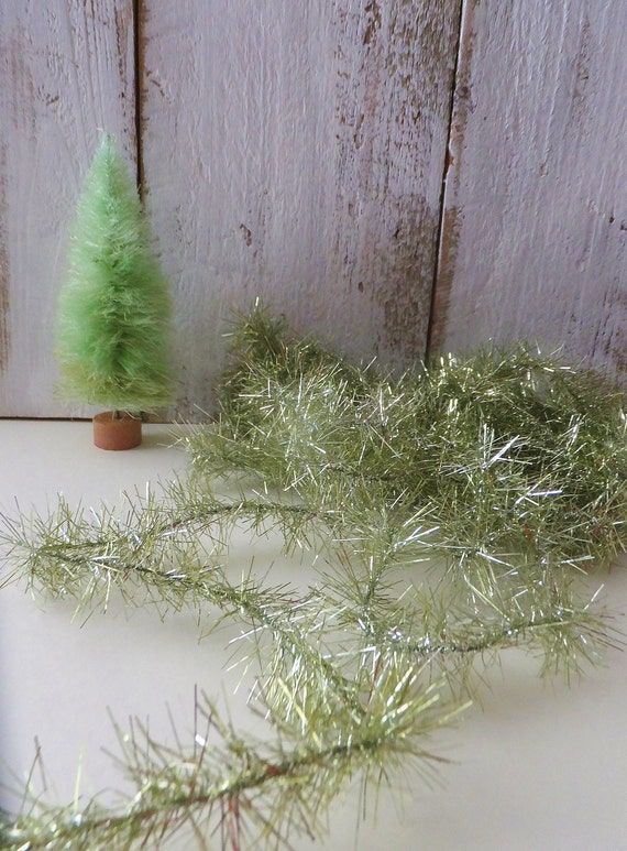 Spring green tinsel garland st patrick s day dyi