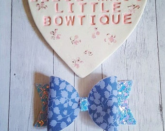 Liberty Blue Blossom Bow