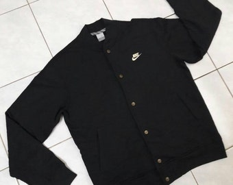 Sale! Vintage Nike Authentic Sportswear Big Logo/ hip hop Jacket sweatshirt / Black/ Large
