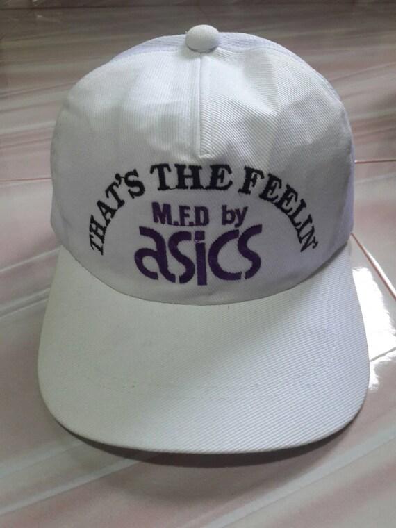 Buy 1 Free 1 Vintage Asics That's The Feelin' Adjustable Cap Hat / vintage Asics cap / nike cap nike hat 90s nike cap vintage nike cap