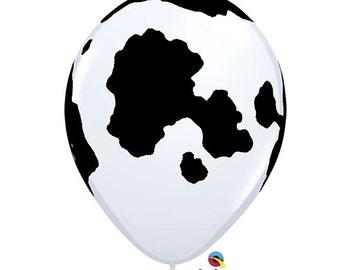 Cow Print Balloon, Farm Animal Balloon set of 6