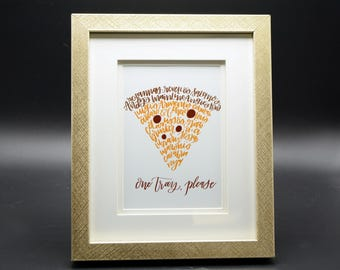 One Tray - NEPA Scranton, Old Forge, Mid Valley Pizza Shops Word Art Print