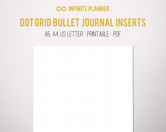 Dot Calendar Bullet Journal : A dot grid page bullet journal printable