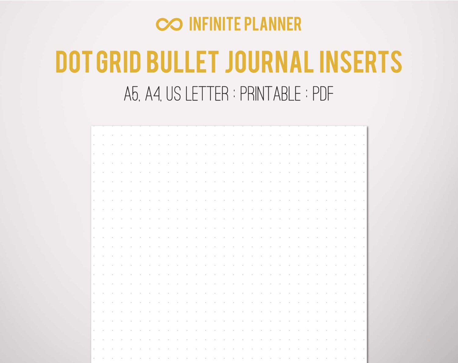 This is a photo of Inventive Bullet Journal Paper Printable