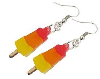 Rocket ice cream earrings