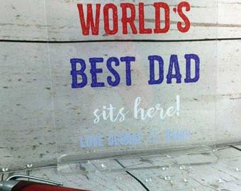 Personalised Father's Day Desk Sign