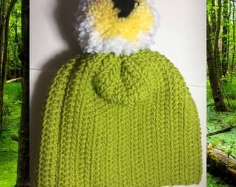 Swamp Cyclops Pompom Hat