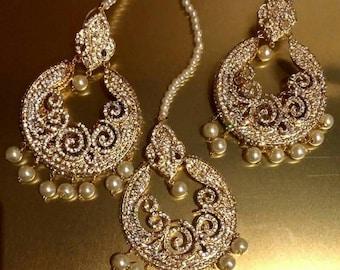 Pearl Tikka Set Asian Wedding Bridal Jewellery