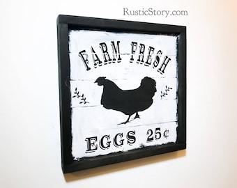 FARM FRESH wooden sign