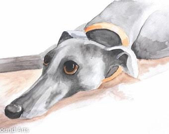 Whippet Carte de Noël-Greyhound Cartes de Noël-Doggy Carte de Noël