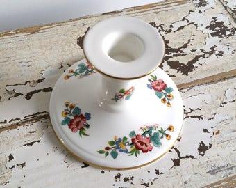 Sweet flower porcelain candlestick