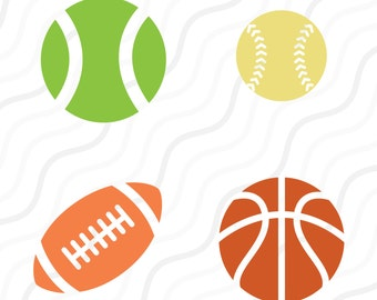 Sport Ball SVG, Baseball, Basketball, Soccer Ball SVG Cut table Design,svg,dxf,png Use With Silhouette Studio & Cricut_Instant Download