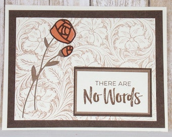 There Are No Words sympathy card, condolence cards, thinking of you cards,
