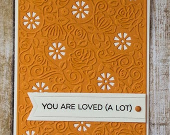 Love you card, handmade greeting card, love cards, just because cards, thinking of you cards, love always