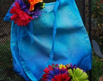 Ombre dyed shopping bag