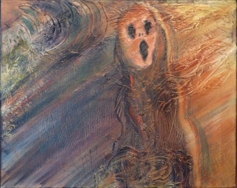 Abstract Original Painting Expressionistic Contemporary Modern Art - It's a Scream