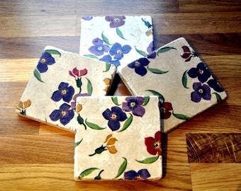 Emma Bridgewater Styled Wallfower Natural Stone Coaster