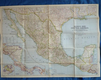 Super retro Maps. National Geographic Old Maps. Ideal for Framing