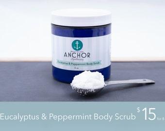 Body Scrub (8 oz) - Eucalyptus & Peppermint