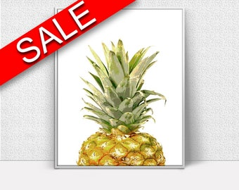 Wall Decor Pineapple Printable Pineapple Prints Pineapple Sign Pineapple Nature Art Pineapple Nature Print Pineapple Printable Art Pineapple