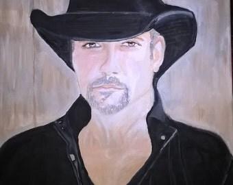 Tim McGraw, Original Painting