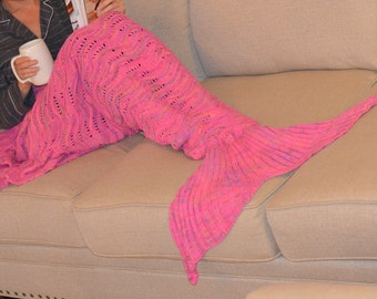 Mermaid Tail Blanket, Pink Mermaid Tail, Mermaid Blanket, Fish Tail