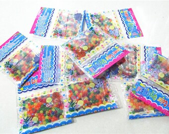 50bags 7Colors Mixed Orbiz Crystal Beads Pearl Crystal Soil Water balls Mud Grow Magic Jelly Balls Wedding Home Decor