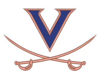 8 Size Virginia Cavaliers Embroidery Design College Football Embroidery Designs Instant Download Machine Embroidery Designs PES