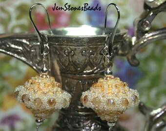 Beads balls bridal earrings