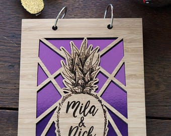 Pinapple Wedding Bridal Shower Guestbook