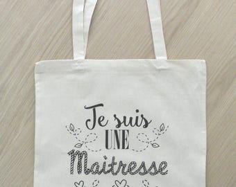 """Tote bag Mistress """"I am a mistress who tears"""""""