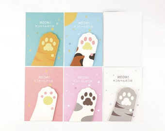 Cat Paw Sticky Notes,Reminder Notes, Memo Pad Stickers, Planner Sticky Notes