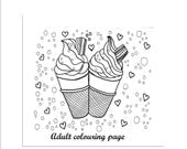 adult coloring page icecreams