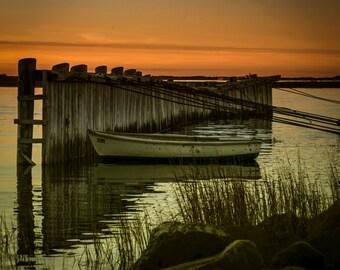 Harbor Sunset  9 X 9 Fine Art Print